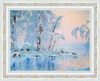"""Вышивка бисером """"Голубое озеро"""" (246х317 мм)"""