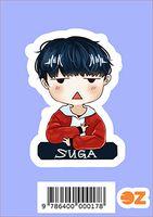 """Глянцевая наклейка """"BTS. Suga"""" (арт. 0017)"""