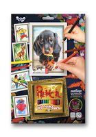 """Картина по номерам карандашами """"Собака"""" (210х297 мм)"""