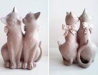 """Статуэтка """"Коты с бантами"""""""