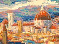 """Картина по номерам """"Дождь над Флоренцией"""" (300х400 мм)"""