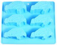 """Форма для выпекания кексов силиконовая """"Машины"""" (220х220х25 мм)"""