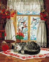 """Картина по номерам """"Зима за окном"""" (500х400 мм)"""