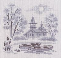 "Вышивка крестом ""Туман над рекой"""