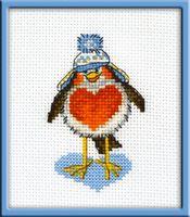 "Вышивка крестом ""Влюбленный птиц"" (60х90 мм)"