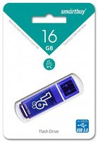 USB Flash Drive 16Gb SmartBuy Glossy series (Dark Blue)