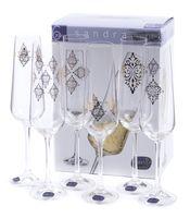 """Бокал для шампанского стеклянный """"Sandra"""" (6 шт.; 200 мл; арт. 40728/S1387/200)"""
