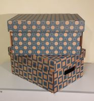 Набор коробок (2 шт.; голубой)