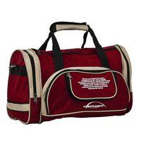 Спортивная сумка 6065с (бордово-бежевая)