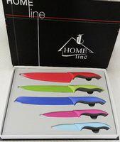Набор ножей металлических с антибактериальным покрытием с пластмассовыми ручками (5 шт, арт. MS03-C041)