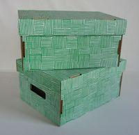 Набор коробок (2 шт.; зеленый)