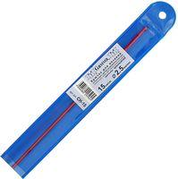 Крючок для вязания (красный; металл; 2.5 мм)