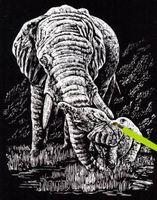 "Гравюра ""Слон"""