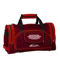 Спортивная сумка 6065с (бордово-красная)