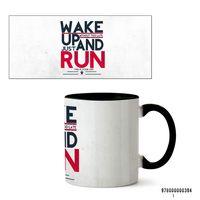 "Кружка ""Wake up and run"" (394, черная)"
