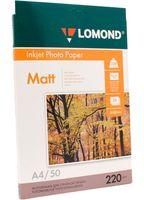 Фотобумага матовая двусторонняя Lomond (50 листов; 220 г/м2; А4)
