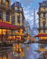 "Картина по номерам ""Вечерний Париж"" (500х400 мм)"