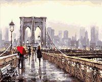 """Картина по номерам """"Мост в мегаполис"""" (400х500 мм)"""