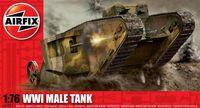 """Тяжелый танк """"WW.I Male Tank"""" (масшатб: 1/76)"""