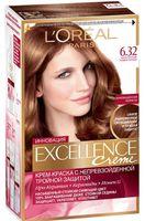 """Крем-краска для волос """"Excellence"""" (тон: 6.32, золотистый темно-русый)"""