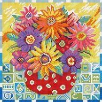 """Алмазная вышивка-мозаика """"Цветики-цветочки"""" (300х300 мм)"""