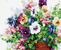 "Картина по номерам ""Анютины глазки"" (400х500 мм; цветной холст)"