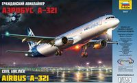 Гражданский авиалайнер Аэробус А-321 (масштаб 1/144)