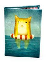 """Обложка на паспорт """"Котик в море"""""""