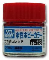 Краска Aqueous Hobby Color водоразбавляемая (flat red, H-13)