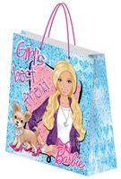 """Пакет бумажный подарочный """"Barbie"""" (18х21х8,5 см; арт. BRAB-UG1-1821-Bg)"""