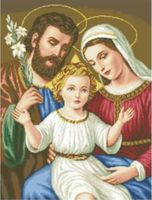 """Канва с нанесенным рисунком """"Святое семейство"""""""