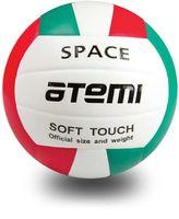 """Мяч волейбольный Atemi """"Space"""" №5 (зелёно-бело-красный)"""