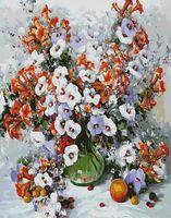 """Картина по номерам """"Городские цветы"""" (500х400 мм)"""