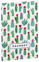 """Обложка на паспорт """"Цветущие кактусы"""""""