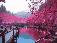 "Картина по номерам ""У горного озера"" (400х500 мм)"