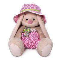 """Мягкая игрушка """"Зайка Ми в шляпе с мишкой"""" (18 см)"""