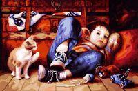 """Вышивка крестом """"Счастливое детство"""""""