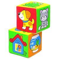 """Кубики мягкие """"Чей домик?"""" (2 шт.)"""