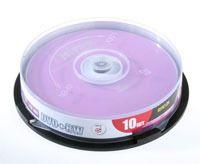 Диск DVD+RW 4.7Gb 4x Mirex CakeBox 10
