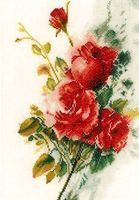 "Вышивка крестом ""Букет красных роз"" (210х300 мм)"