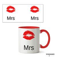 """Кружка """"Mrs"""" (651, красная)"""