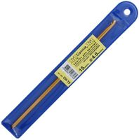 Крючок для вязания (желтый; металл; 4,0 мм)