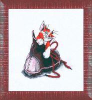 """Вышивка крестом """"Котёнок в ботинке"""" (250х220 мм)"""