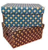 Набор коробок (2 шт.; синяя и темно-синяя)