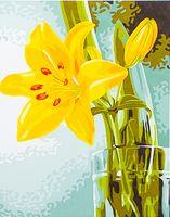 "Картина по номерам ""Желтая лилия"" (300х400 мм)"