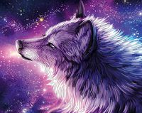 "Алмазная вышивка-мозаика ""Душа волка"""