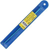 Крючок для вязания (синий; металл; 4.0 мм)