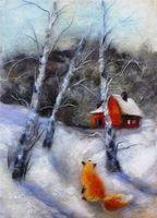"""Картина из шерсти """"Соседи"""" (арт. 902370)"""