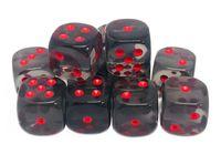 """Набор кубиков D6 """"Прозрачный"""" (12 мм; 12 шт.; пепельный)"""