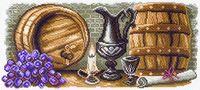 """Канва с нанесенным рисунком """"Винный погребок"""""""